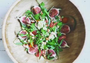 Recept van Purefoodie - Salade met rivierkreeft en vijgen
