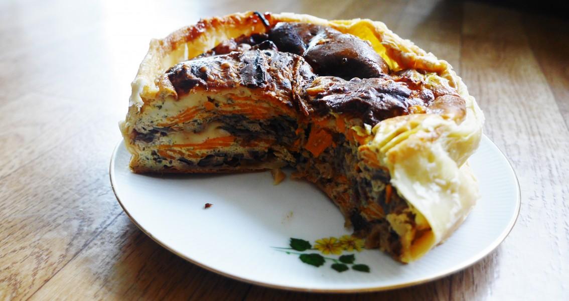 Hartige taart met zoete aardappel Recept van Kim www.purefoodie.nl